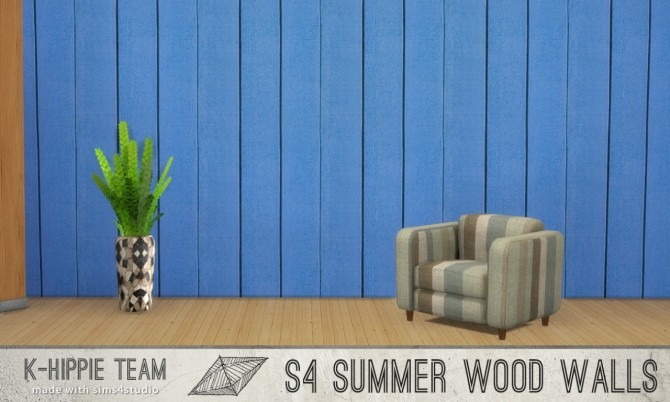 Sims 4 7 Wood Walls Summer Wood volume 2 at K hippie