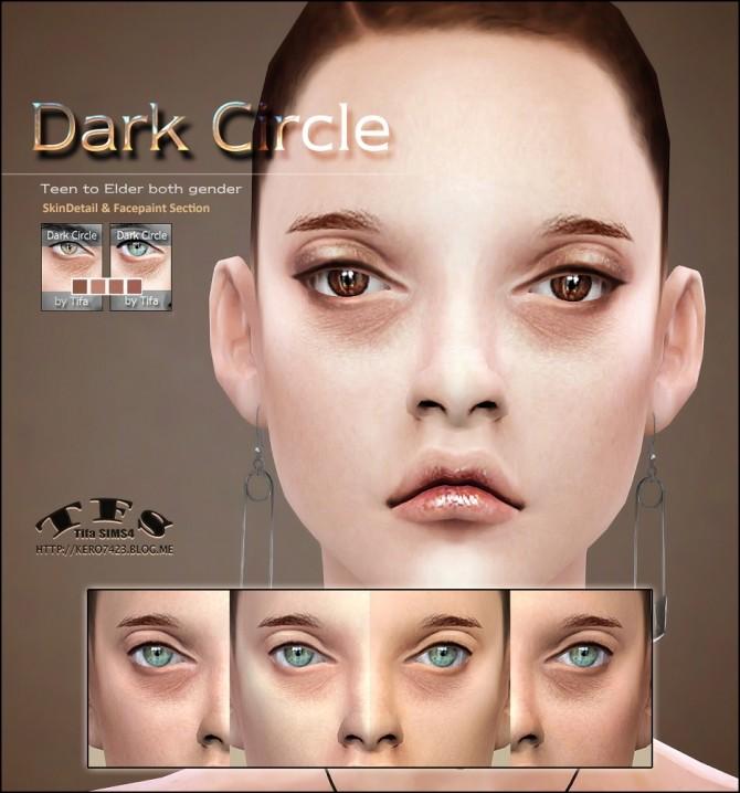 Sims 4 Dark Circle eyebag skindetail & facepaint at Tifa Sims