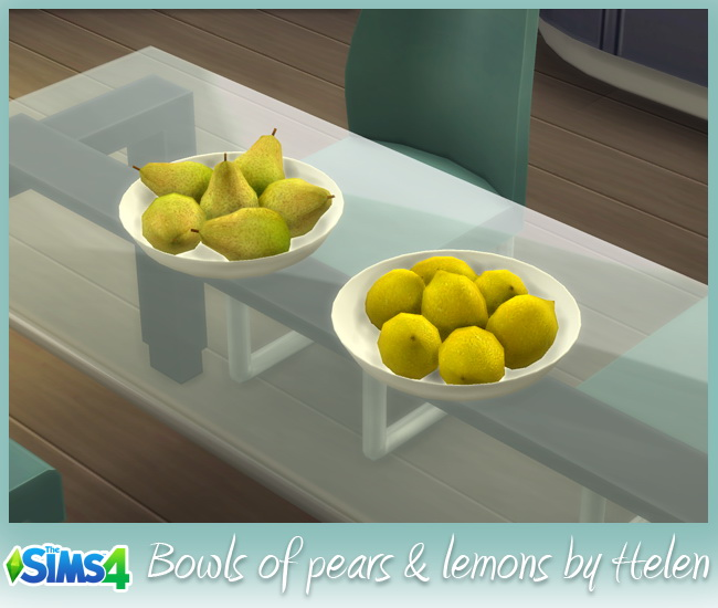 Bowls of pears & lemons at Helen Sims image 6511 Sims 4 Updates