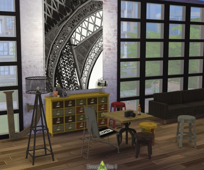 Industrial Dining room by Sandy at Around the Sims 4 image 6612 670x557 Sims 4 Updates