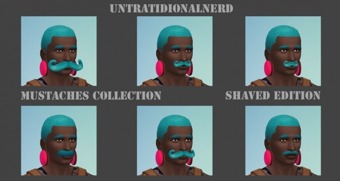 Sims 4 Mustaches Collection Shaved Edition at Untraditional NERD