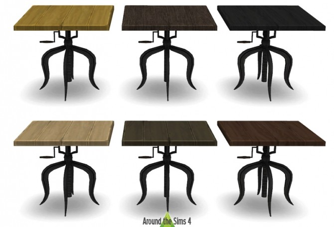 Industrial Dining room by Sandy at Around the Sims 4 image 6713 670x456 Sims 4 Updates