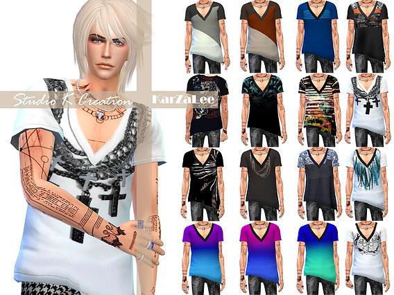 Sims 4 GIRUTO S3 Top & bottom at Studio K Creation