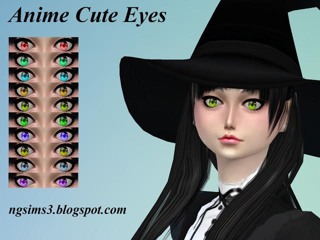 Sims 4 Anime Cute Eyes at NG Sims3