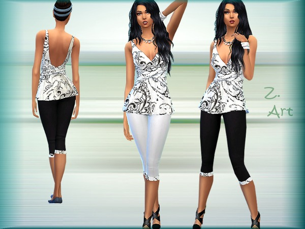 Fit for Fun outfit by Zuckerschnute20 at TSR image 718 Sims 4 Updates