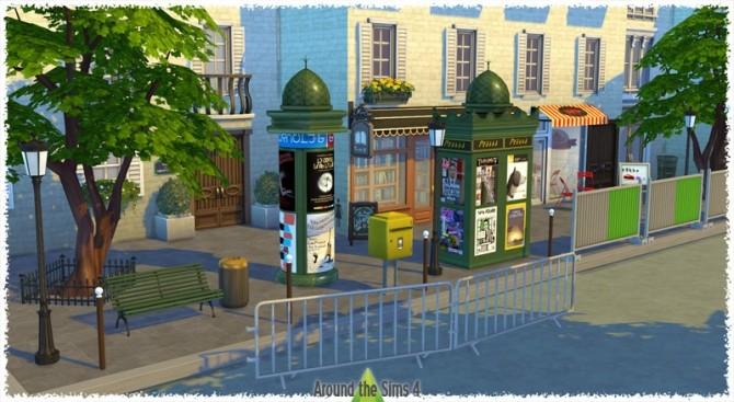 Sims 4 Paris Street by Sandy at Around the Sims 4