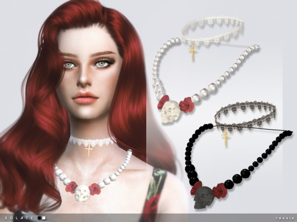 Sims 4 Solace Necklace by toksik at TSR