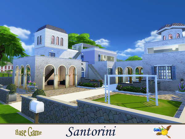Santorini house by evi at TSR image 7417 Sims 4 Updates