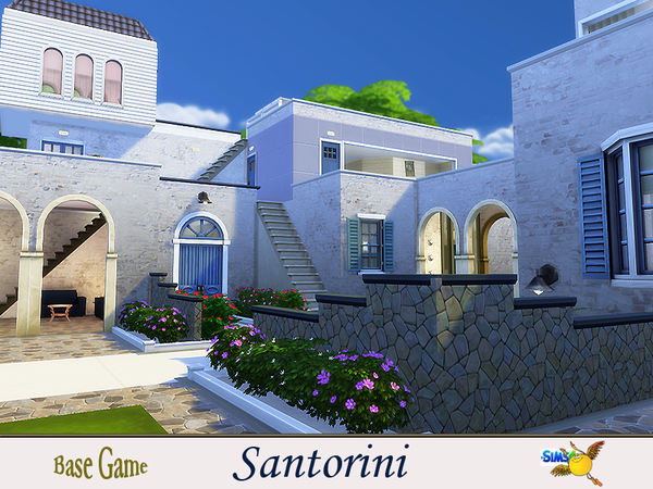 Santorini house by evi at TSR image 7516 Sims 4 Updates