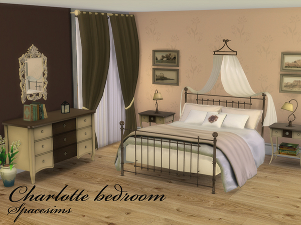 Sims 4 Charlotte bedroom by spacesims at TSR