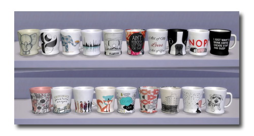 Sims 4 Coffee Time mug and maker recolors at Msteaqueen