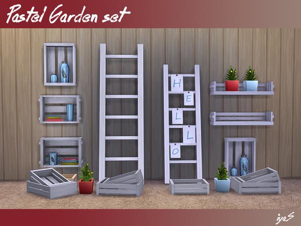 Sims 4 Pastel Garden set by soloriya at TSR