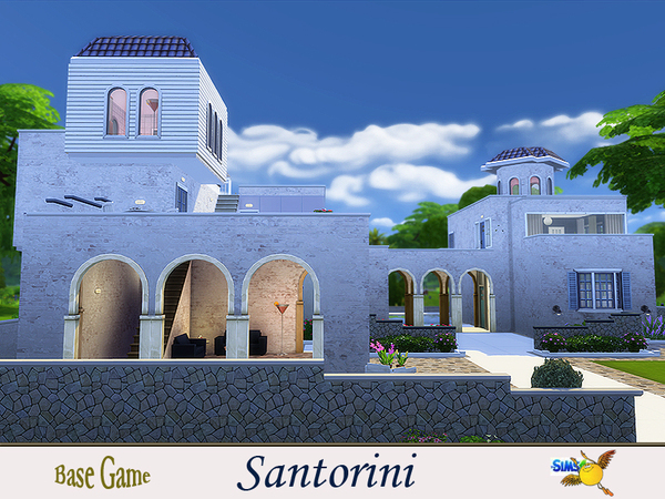 Santorini house by evi at TSR image 7618 Sims 4 Updates