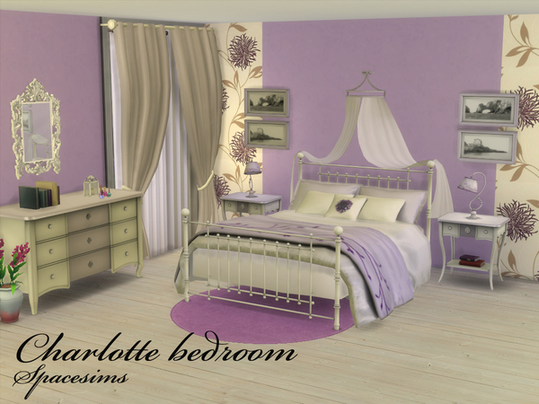 Charlotte Bedroom By Spacesims At Tsr Sims 4 Updates