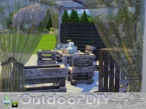 DIY Outdoor Dining by BuffSumm at TSR image 7622 Sims 4 Updates