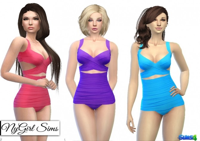 Sims 4 Vintage Wrap Swimsuit at NyGirl Sims