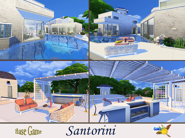 Santorini house by evi at TSR image 7718 Sims 4 Updates