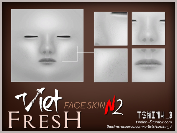 Sims 4 VIET Fresh Face Skin by tsminh 3 at TSR