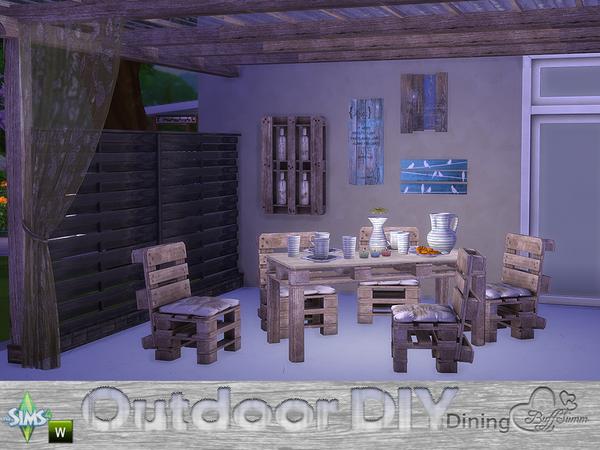 DIY Outdoor Dining by BuffSumm at TSR image 7722 Sims 4 Updates