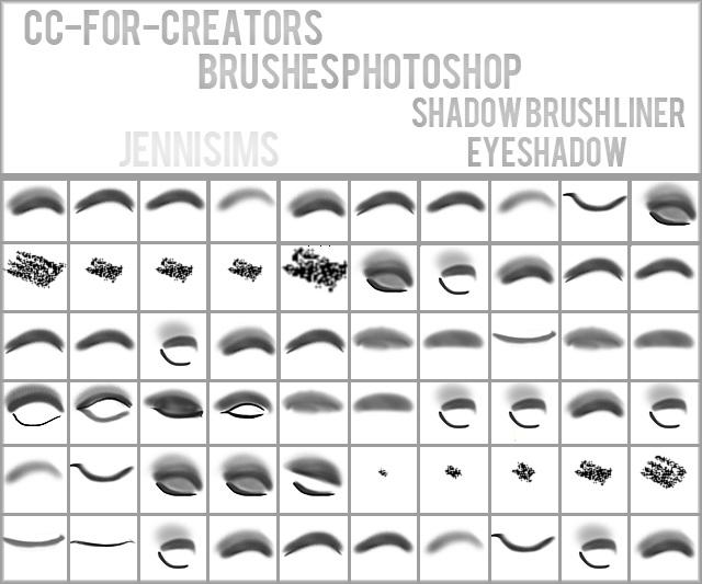 Sims 4 Brushes for Creators (Brush Liner, Eyeshadow) at Jenni Sims