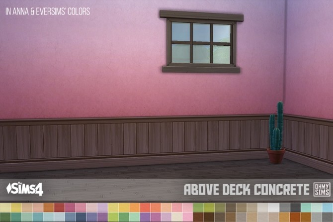 Dark brown paneling above deck wallpapers at oh my sims 4 for Sims 4 balcony