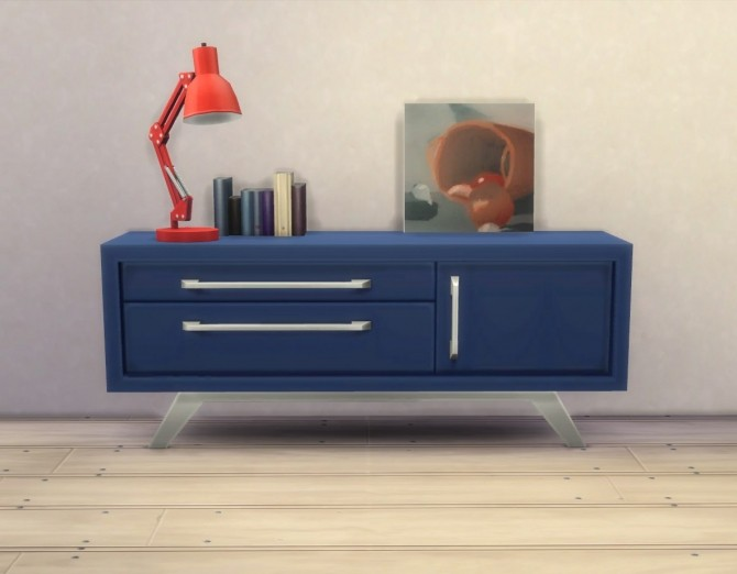 Sims 4 Audrinite Side Table / Dresser by plasticbox at Mod The Sims