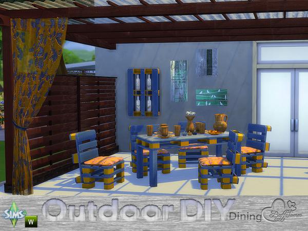 DIY Outdoor Dining by BuffSumm at TSR image 7821 Sims 4 Updates