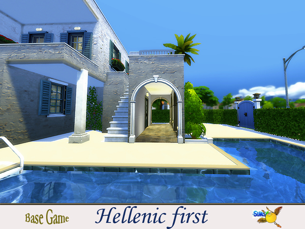 Sims 4 Hellenic first house by evi at TSR