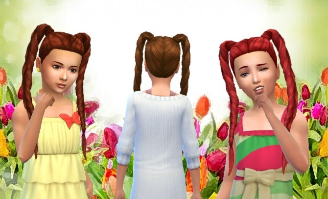 Sims 4 Long Braids for Girls at My Stuff