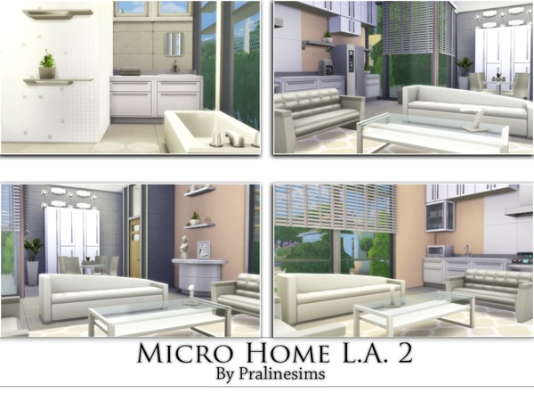 Sims 4 Micro Home L.A. 2 by Pralinesims at TSR