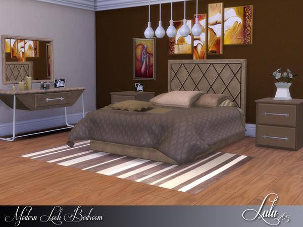 Modern Look Bedroom by Lulu265 at TSR image 8103 Sims 4 Updates