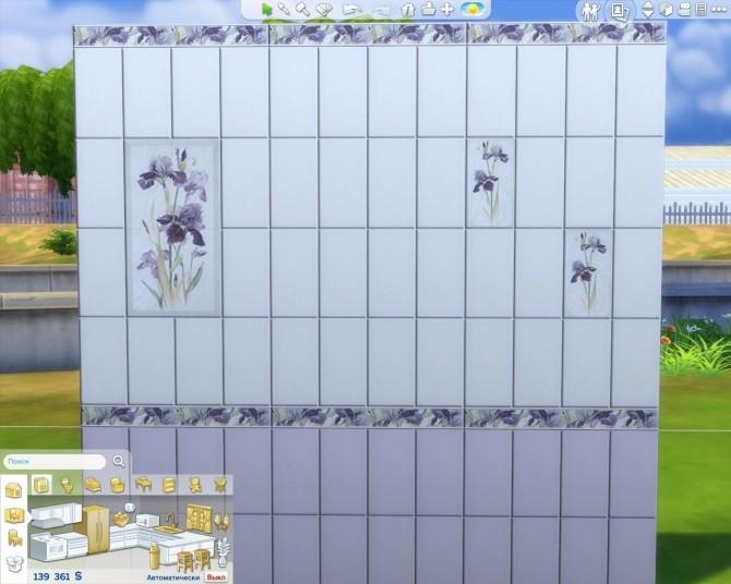 Sims 4 Iris Тile set by AdeLanaSP at Mod The Sims