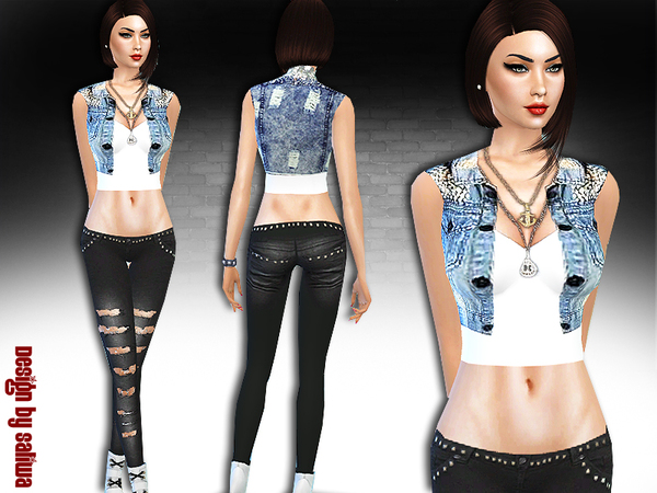 Sims 4 What was the fashion Full Outfit by Saliwa at TSR