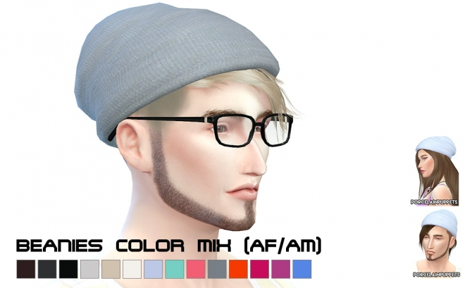 Gtw Slouchy Beanies At Porcelain Warehouse 187 Sims 4 Updates