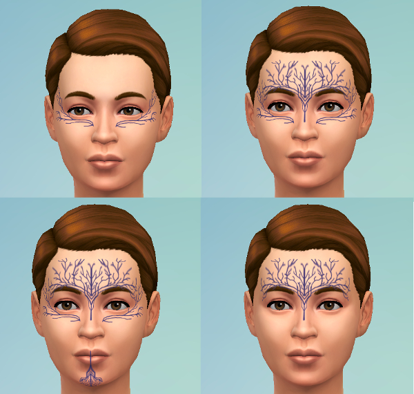 Sims 4 Dalish Tattoos by mademoisellemaple at Mod The Sims