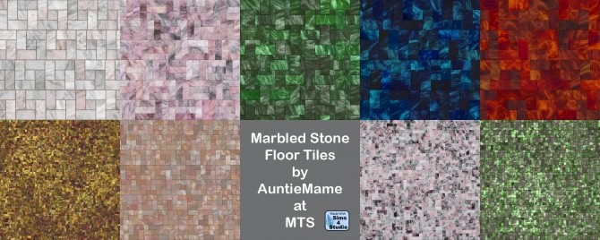 Marbled Stone Tile Flooring by AuntieMame at Mod The Sims image 8316 670x268 Sims 4 Updates