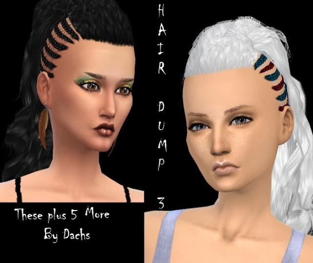 Sims 4 Hair Dump 3 at    select a Sites