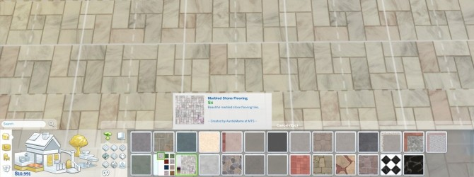 Sims 4 Marbled Stone Tile Flooring by AuntieMame at Mod The Sims