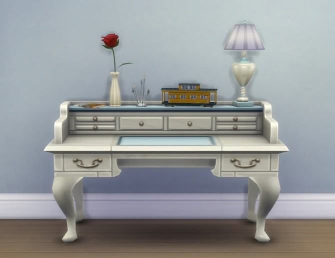 Sims 4 Fixed: More Slots for All Purpose Desk by plasticbox at Mod The Sims