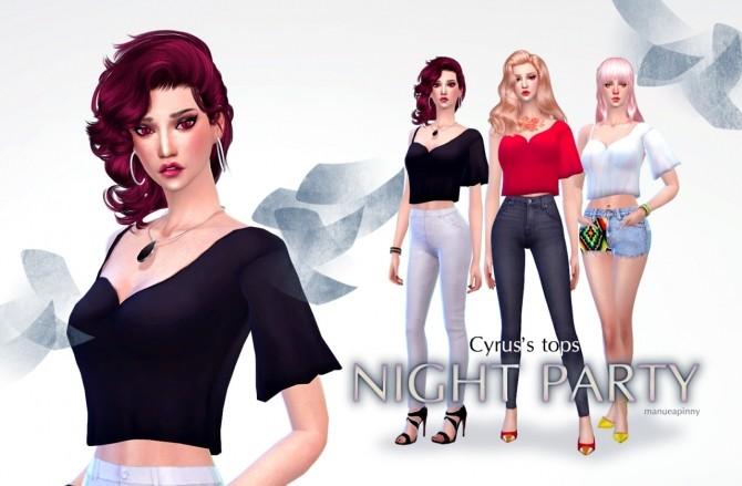 Sims 4 Cyrus's Night party tops at manuea Pinny