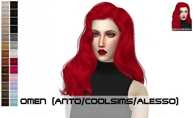 Anto Firenze + Omen hair retexture at Porcelain Warehouse image 8522 670x409 Sims 4 Updates