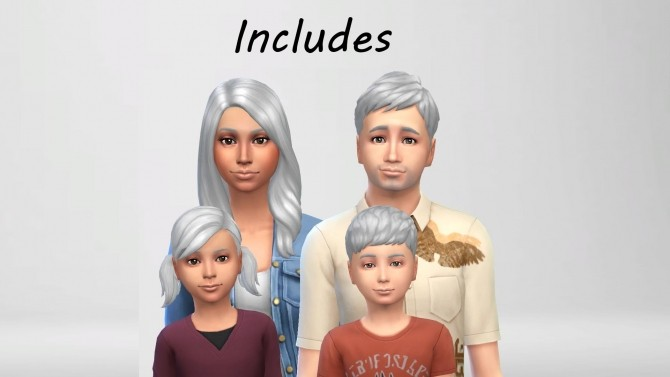 Sims 4 Silver White Hair Colour by Jeeep200 at Mod The Sims