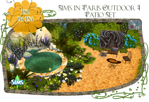 TS2 to TS4: Sims in Paris Outdoor Patio Set at Daer0n – Sims 4 Designs image 8918 Sims 4 Updates