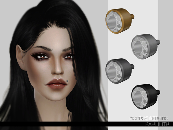 Sims 4 Monroe Piercing by Leah Lillith at TSR