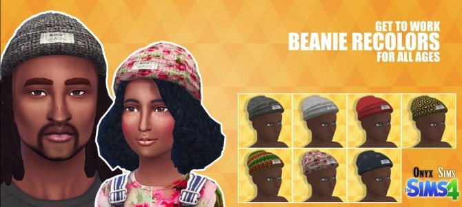 Sims 4 Get to Work Beanie Recolors at Onyx Sims