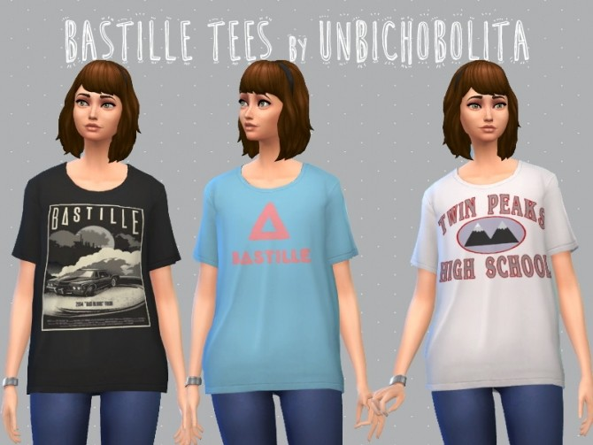 Bastille tees at Un bichobolita image 9212 670x503 Sims 4 Updates