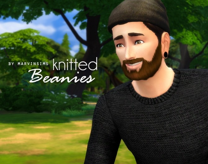 Sims 4 Knitted Beanies at Marvin Sims