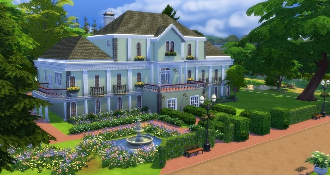 Sims 4 2 Mansion Castle Lane Mansion by jamie10 at Mod The Sims