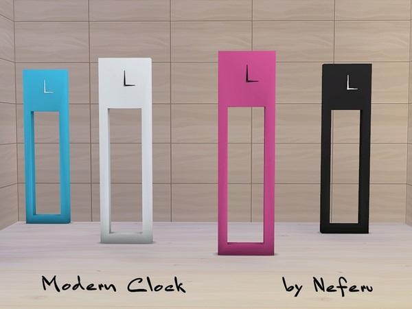Sims 4 Modern Clock by Neferu at TSR
