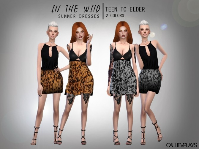 Sims 4 In the wild summer dresses at CallieV Plays